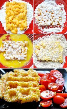 Waffle Iron Macaroni & Cheese