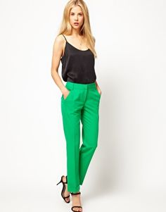 Slight obsession with brightly colored pants at the moment.