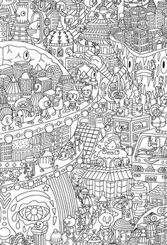 city scape colouring