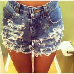 My DIY high waisted shorts :)