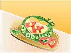 Carve a Watermelon Into a Heart Basket