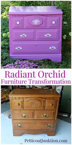 Radiant Orchid Pantone Color Perfect For Furniture, Petticoat Junktion  #pantone #pantone2014 #radiantorchid