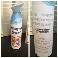 Monster Spray - when kids are afraid at night