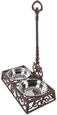 tuscan decor, food stations, dog food, dog bowls, pets, bowl holder, doubl pet, pet food, pet bowl