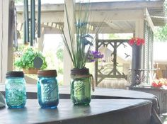 You'll never guess what gives these jars their rustic look