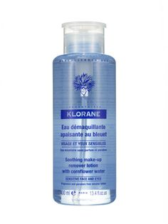 Klorane Soothing Make-up Remover Lotion. This cornflower water whisks away even waterproof mascara with ease.