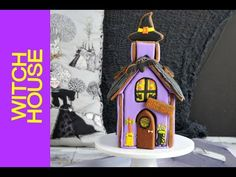 Halloween Gingerbread Witch House  Step by Step Tutorial https://www.youtube.com/watch?v=zmsBA56JB8o