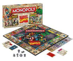 comic monopoli, geek, game collector, collector edit, monopoly games, monopoli game, marvel comics, board games, comic collector