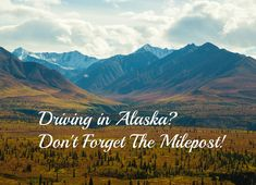 Driving in Alaska? Don't forget The Milepost! the road, alaska road
