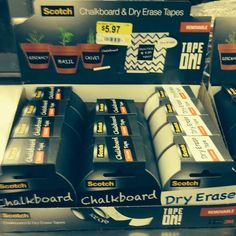 Dry erase & chalkboard tape at Wal-Mart! @teachertreasurehunter's photo: How cool is this? #teachersofinstagram #scotch #musttry
