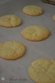 Gluten Free Vanilla Wafers == A Few Shortcuts (Ingredients: 1/2 C softened butter, 1 C sugar, 1 egg, 1 T vanilla, 1-1/3 C GF Bisquick, 3/4 tsp. baking powder, 1/4 tsp. salt)