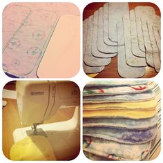 DIY Soaker pads for cloth diapers. Microfiber inside, flannel on outside.