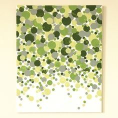 Easy and inexpensive wall art anyone can make. No artist talent needed for this project. Canvas, paint and pouncers are all you need.