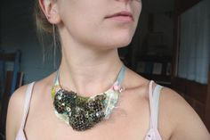 Real Paper Wasp Nest Bib Necklace