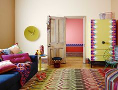 Dulux // Eclectic colorful styling