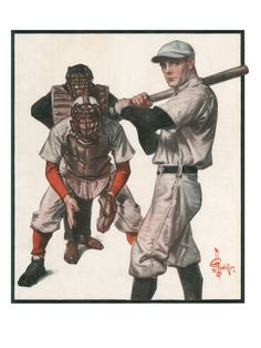 jc leyendecker original illustrations | Leyendecker Baseball Illustration