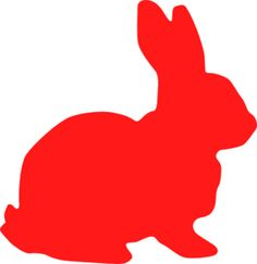 Red Bunny Silhouette