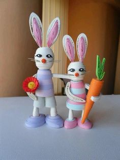 quill doll, paper quill, 3d quill, filigrana 3d, craftspap craft, bunni coupl