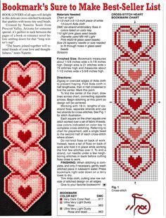 Heart Plastic Canvas Bookmark
