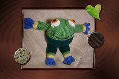Funmigurumi And Kids Stuff: Humpy the Leaper Toad  #free pattern  #crochet  #Amigurumi  #funmigurumi  #toad
