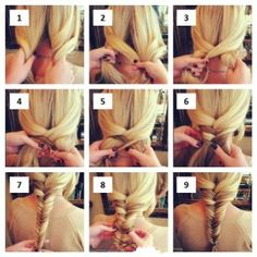 Trenza de espiga, encuentra más estilos de peinados para cada día aquí, http://www.1001consejos.com/peinados-para-cada-dia/