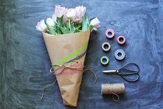 DIY: Washi Tape Mother's Day Bouquet by Marilyn #washitape