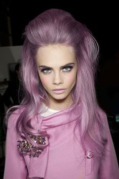 #modellook #purple #colour #volume #hair
