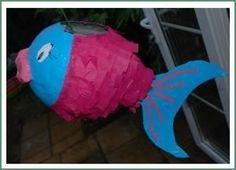 piñata, diy crafts, parti foodsidea, paper mache, fish pinata, papers, birthday crafts, parti idea, kid