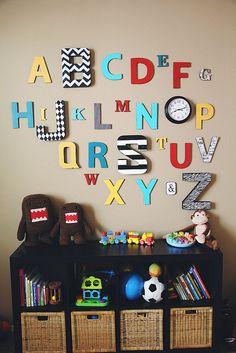 Alphabet wall #alphabetwall #alphabet #wall #playroom