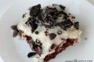 Oreo Pudding Poke Cake. appl cake, desert, puddings, poke cakes, dessert recip, food, oreos, oreo pud, pud poke