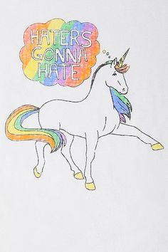 Haters Gonna Hate Unicorn Tee