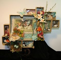 altered boxes, little boxes, gift boxes, shadowbox, paper, shadow box, box window display, victorian boxes, configur box