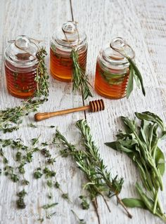 Rosemary, Lemon Thyme and Sage Honey