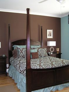 wall colors, paint ideas, color schemes, bedroom colors, blue bedrooms, paint colors, master bedrooms, light, accent walls