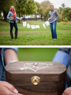 Love letter engagement pictures. All images courtesy of Gina Cristine Photography.