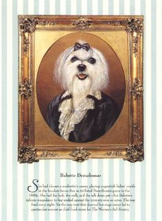 This Original page comes from a book of dog portraits, illustrated by the noted artist Thierry Poncelet