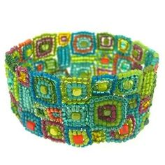 Gee's Bend Sorbet Cuff Bead Bracelet Kit--combining my love of beading with my love of quilting!