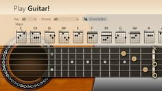 Play Guitar! // turns your Windows 8 machine into a virtual guitar. You can press and strum strings, just like a real guitar. Play Guitar! helps you learn what notes lie on the frets of the guitar. It is a very useful tool for every aspiring Play Guitar! turns your Windows 8 machine into a virtual guitar. You can press and strum strings, just like a real guitar. Play Guitar! helps you learn what notes lie on the frets of the guitar. It is a very useful tool for every aspiring guitarist.