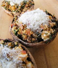 Quinoa Stuffed Portobello Mushrooms