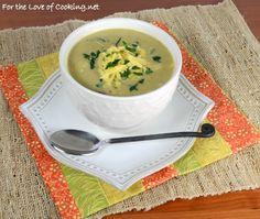 Roasted Broccoli & Cauliflower Cheese Soup
