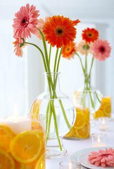 Beautiful and simple tablescape #centerpiece #flower
