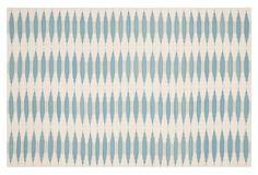 Edith Flat-Weave Rug, Sky/Ivory on OneKingsLane.com
