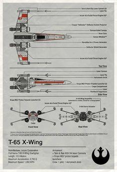 X-wing Blueprint Star Wars
