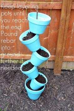 DIY tilted pots