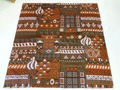 "Tampella Finland Marjatta Metsovaara ""Igor"" Vintage 70's fabric Sateen Cotton #TampellaMetsovaara #Graphic"