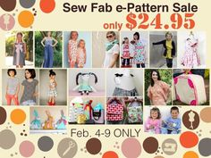 Sew-Fab-Pattern Bundle  This week only!