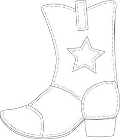 Cowboy Boot Template