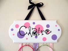 Girls Bow Holder by MamaBellaCreations on Etsy, $30.00