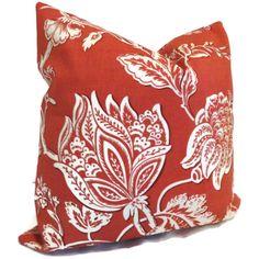 Terracotta Jacobean Outdoor Pillow Cover Schumacher by PopOColor, $55.00