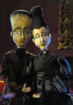 Frankie & Frances  Frankenstien & The Bride of Frankenstein Dolls